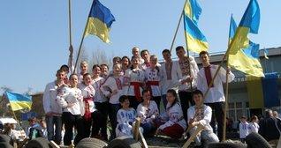 Флешмоб «Ні – війні! Так – миру!» на площі Героїв Майдану
